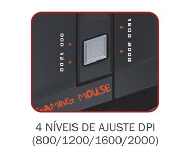 Mouse Gaming K-Mex MO-D835 - USB - 2000dpi - Scrol